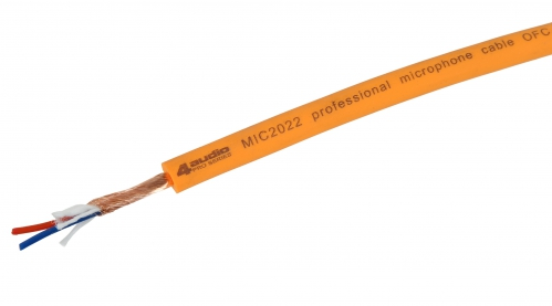 4Audio MIC2022 Orange mikrofonní kabel
