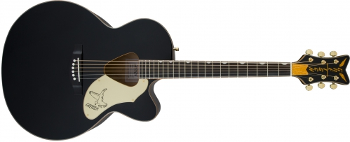 Gretsch G5022CBFE Rancher Falcon Jumbo Cutaway Acoustic/Electric, Fishman Pickup System, Black acoustic guitar