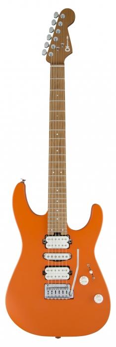 Charvel DK24 HSH 2PT CM Satin Orange Crush electric guitar