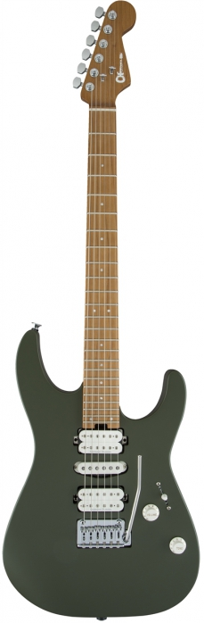Charvel DK24 HSH 2PT CM Matte Army Drab electric guitar