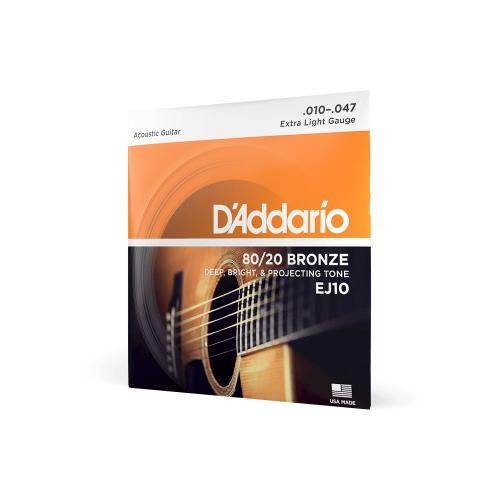 D′Addario EJ-10 struny na akustickou kytaru