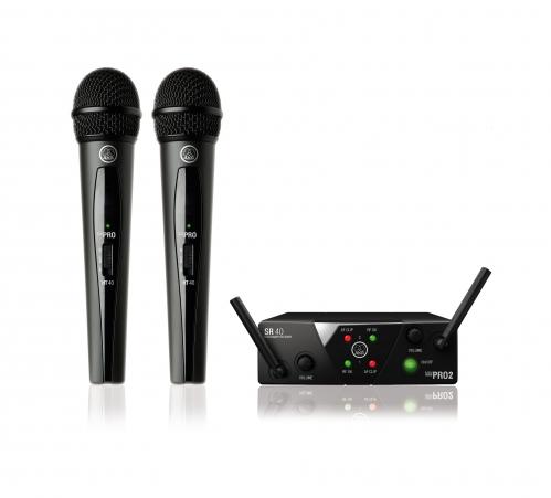 AKG WMS40 mini dual Vocal Set US45 A/C bezdrátový mikrofon