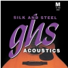 GHS Silk and Steel struny do gitary akustycznej, Silver-plated Copper, Medium, .011-.048