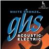 GHS White Bronze struny pro elektroakustickou kytaru, Alloy 52, 12-String, Light, .011-.048