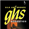 GHS Silk and Bronze struny do gitary akustycznej, Phosphor Bronze, Light, .011-.049