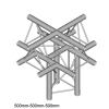 DuraTruss DT 23-C52-XU X-joint element konstrukcji aluminiowej + góra