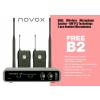 Novox Free B2 mikrofon bezprzewodowy podwójny nagłowny