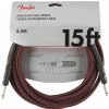 Fender Professional Series Instrument Cable 15′ Red Tweed