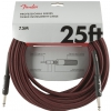 Fender Professional Series Instrument Cable 25′ Red Tweed