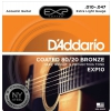 D′Addario EXP10 Coated 80/20 Bronze, Extra Light, 10-47 Electric Guitar Strings