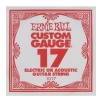 ErnieBall plain steel single guitar string ′17′