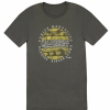 Fender Cali Coastal Yellow Waves Men′s T-Shirt, Gray, XL koszulka