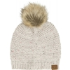 Fender Leather Patch Pom Pom Beanie, Tan czapka