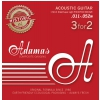 Adamas (664573) Phosphor Bronze Historic Reissue, struny do gitary akustycznej - 3pack Light .012-.053
