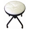 Stim ST11BI mini stool, adjustable height, white upholstery