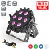 Flash Pro LED PAR 64 SLIM 7x10W RGBW 4w1 15st PRO MKII - reflektor LED  czarny płaski