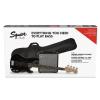 Fender Affinity Series Precision Bass PJ Pack Laurel Fingerboard Black Gig Bag Rumble 15 zestaw