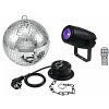 Eurolite Mirror Ball 20cm with motor + LED PST-5 QCL Spot BK