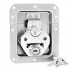 Adam Hall Hardware 17290 LS - Zamek motylkowy, średni, sprężynowy, zamykany na klucz, niezagięty, głębokość: 14 mm