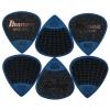 Ibanez PPA16 MSG DB zestaw kostek gitarowych Flat Pick Sand Grip 6 sztuk